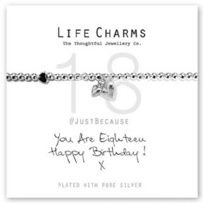 Life Charms You Are 18 Silver Plated Bracelet